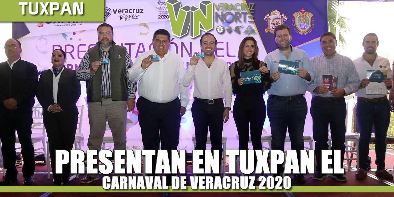 Presentan en Tuxpan Carnaval de Veracruz 2020