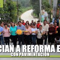 BENEFICIAN A REFORMA ESCOLÍN CON PAVIMENTACIÓN