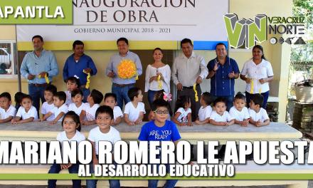 MARIANO ROMERO LE APUESTA AL DESARROLLO EDUCATIVO