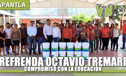 REFRENDA OCTAVIO TREMARI SU COMPROMISO CON LA EDUCACIÓN