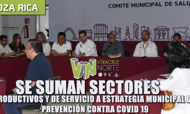 SE SUMAN SECTORES PRODUCTIVOS Y DE SERVICIOS A ESTRATEGIA MUNICIPAL DE PREVENCIÓN CONTRA COVID19