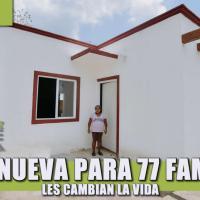 CASA NUEVA PARA 77 FAMILIAS, LES CAMBIAN LA VIDA
