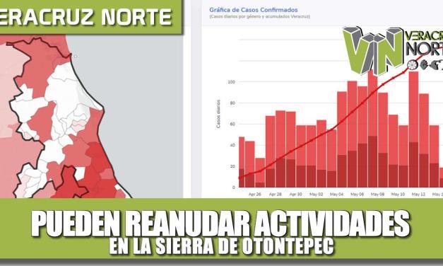 Pueden reanudar actividades en la Sierra de OTONTEPEC