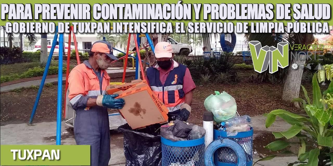 PARA PREVENIR CONTAMINACIÓN Y PROBLEMAS DE SALUD, GOBIERNO DE TUXPAN INTENSIFICA EL SERVICIO DE LIMPIA PÚBLICA