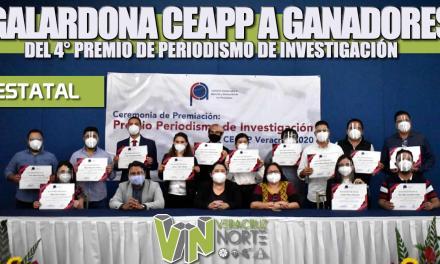 Galardona CEAPP a ganadores del 4° premio «PERIODISMO DE INVESTIGACIÓN 2020»