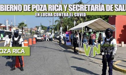 GOBIERNO DE POZA RICA Y SECRETARÍA DE SALUD EN LUCHA CONTRA EL COVID