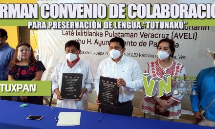 """FIRMAN CONVENIO DE COLABORACIÓN PARA PRESERVACIÓN DE LENGUA """"TUTUNAKÚ"""""""