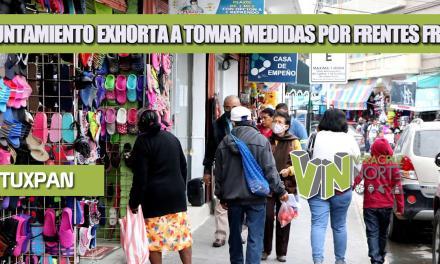 AYUNTAMIENTO EXHORTA A TOMAR MEDIDAS POR FRENTES FRIOS