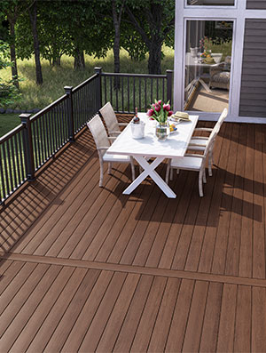 installation veranda composite decking