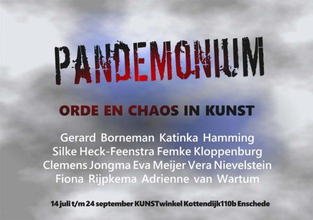 uitnodiging tentoonstelling Pandemonium