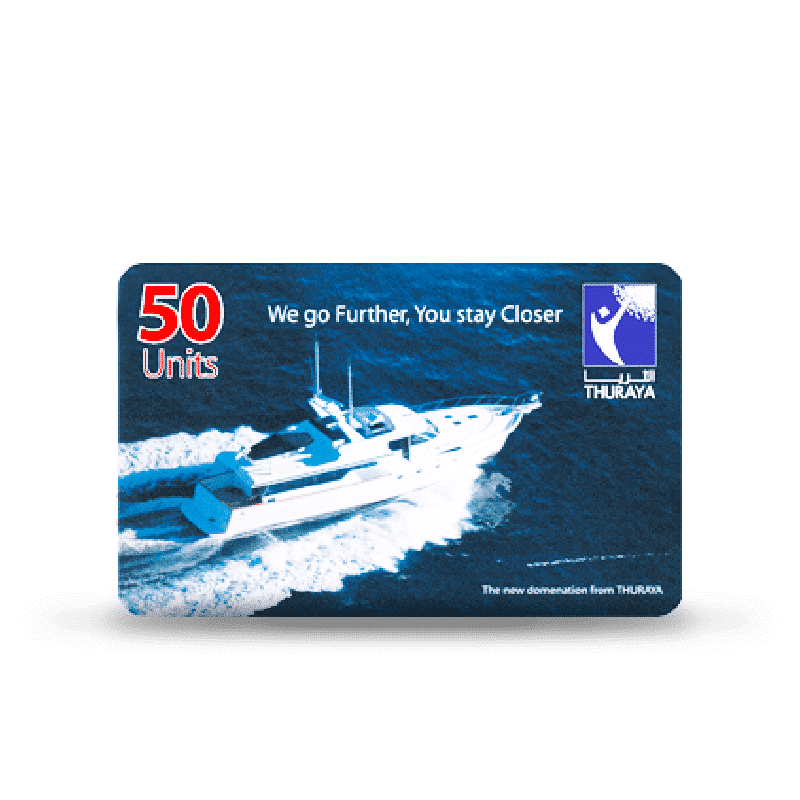 Thuraya minutes prices and Airtime: Prepaid 50 to 1000 units