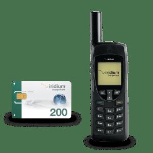 Pack Iridium 9555 con Tarjeta SIM Prepago 200 minutos