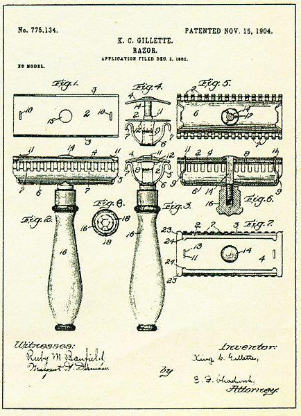 Gillete Historia Patente