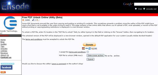 Ensode Free PDF Unlock