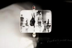 Garnet, rock crystal, silver, digital picture