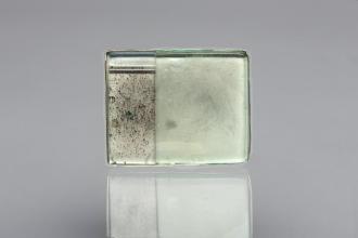 Brooch PRIMUS (aquamarine, sterling silver, plexiglass)