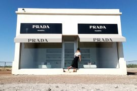 The Prada Marfa is an art installation near Marfa, Texas that has been featured in film and TV