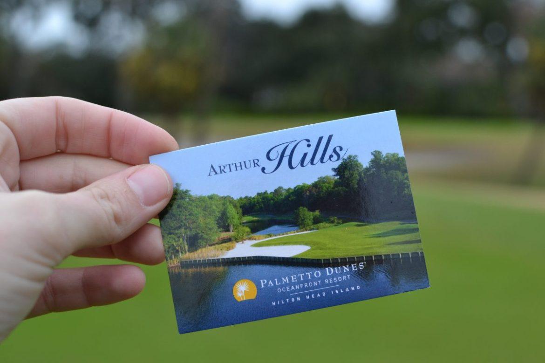Arthur Hills Course Card