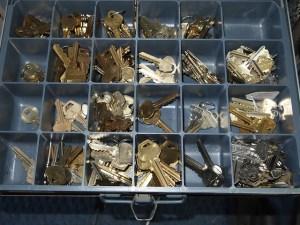 Schlüsselrohlinge beim Schlüsseldienst