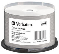 DVD+R DL 8x DataLifePlus Wide Thermal Professional 50pk Spindle - No ID Brand