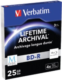 Verbatim M-Disc BD-R 3er-Pack, Slim Case