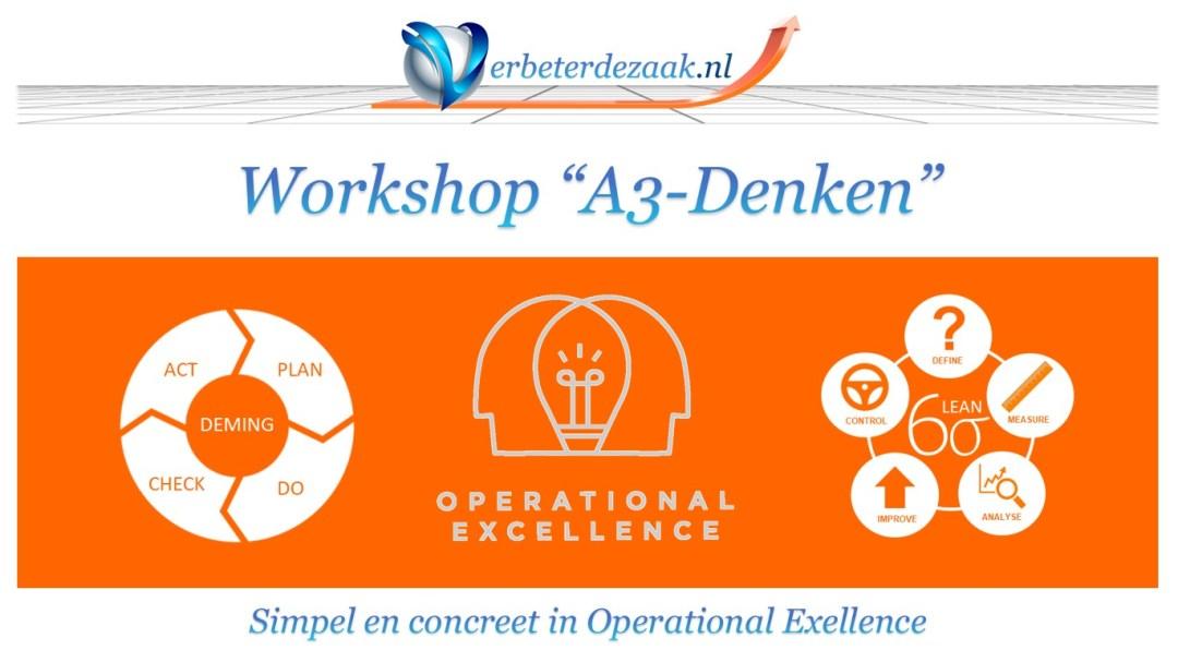 Workshop A3 denken Practical operational excellence Praktisch simpel effectief verbeterprojecten draaien voor verbeterteams