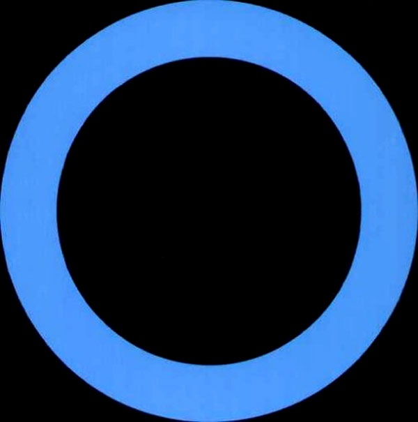 Blue Circle Logo Three Vertical Lines