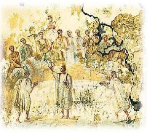 joy of the wedding fresco