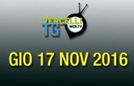 TG – Gio 17 Nov 2016