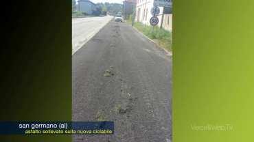San Germano (AL): i guai del nuovo asfalto