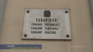 Vercelli: 37enne arrestato dai Carabinieri per furto