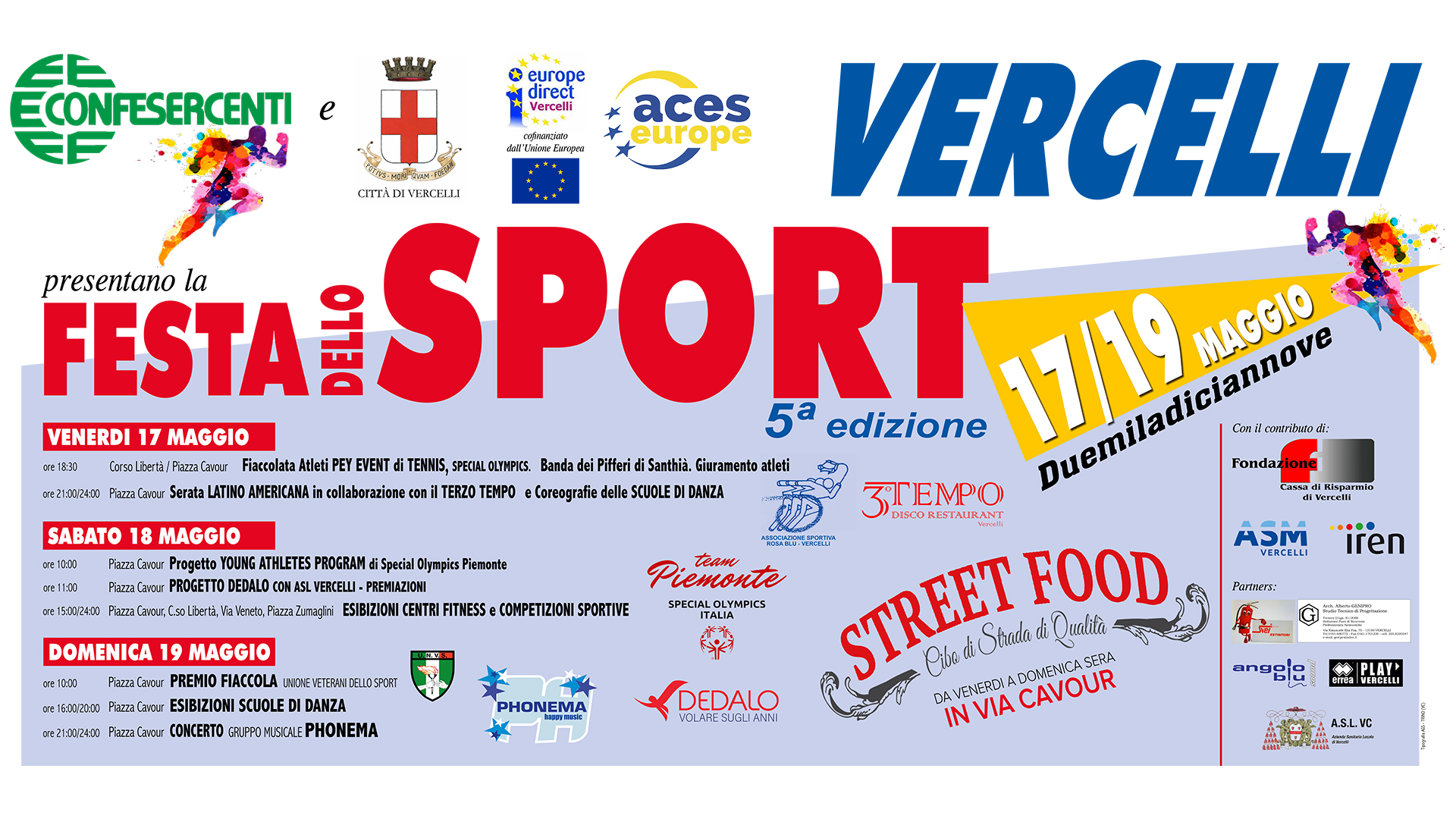 Vercelli, Festa dello Sport, dal 17 al 19 maggio 2019