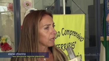 Vercelli: l'assessore regionale Chiorino alla scuola Verga