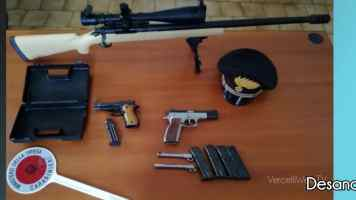 Desana: non comunica il trasferimento delle proprie armi e viene denunciato.