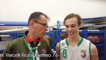 Basket serie C Silver: Vercelli Rices – Settimo 76-57