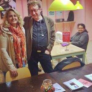 Faiza Rebandi och Anders  Backlund, Verdandi Sundbyberg har syverkstad i Hallonbergens Centrum. Till vardags jobbar Anders mycket med Verdandi Sundbybergs sociala arbetsintegrerande företag Trappstegen som bland annat driver second-hand-butiker i Sundbyberg och Fittja.