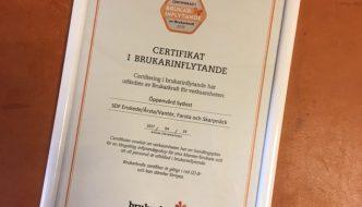 Brukarkraft startar verksamhet med certifiering av brukarinflytande