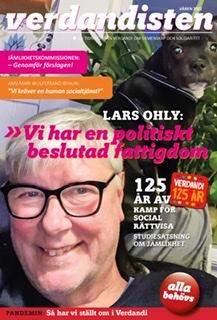 Omslag på Verdandisten januari 2021. Lars Ohly är på omslaget.