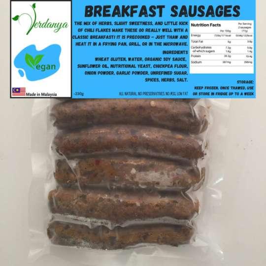 Vegan Breakfast Sausages