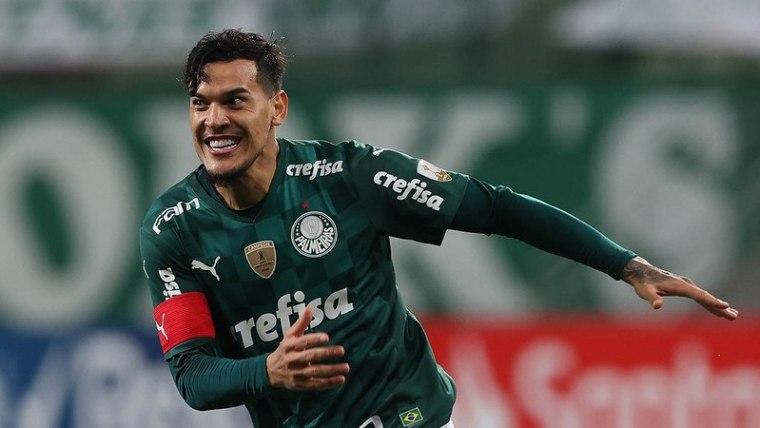Gustavo Gómez comemora mais um gol no Allianz Parque