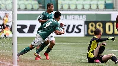 O atacante Gabriel Silva marcou pela 23ª vez em 23 jogos na temporada, pelo Palmeiras Sub-20.