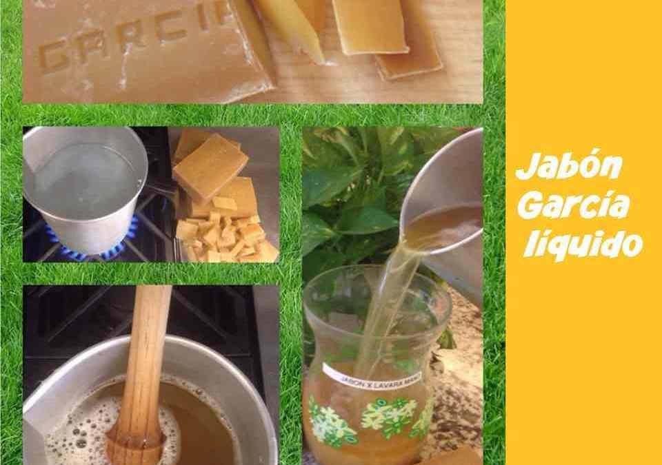 Cómo preparar el Jabón García líquido