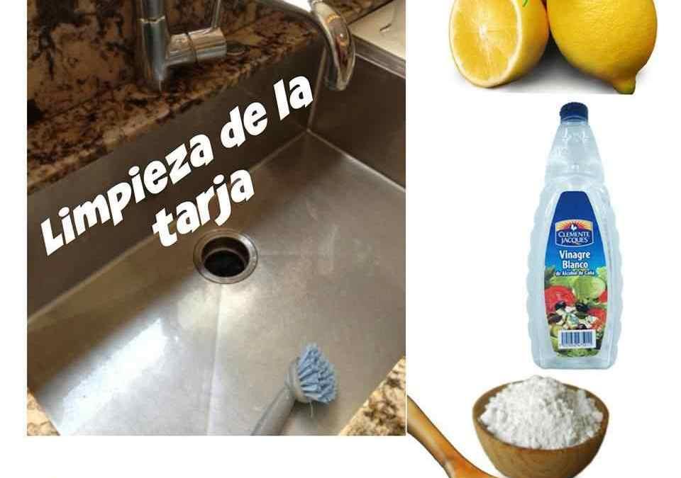 Cómo limpiar la tarja de la cocina