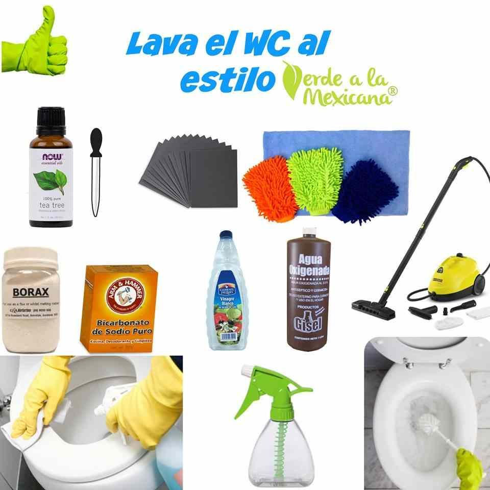 como lavar el baño sin quimicos toxicos
