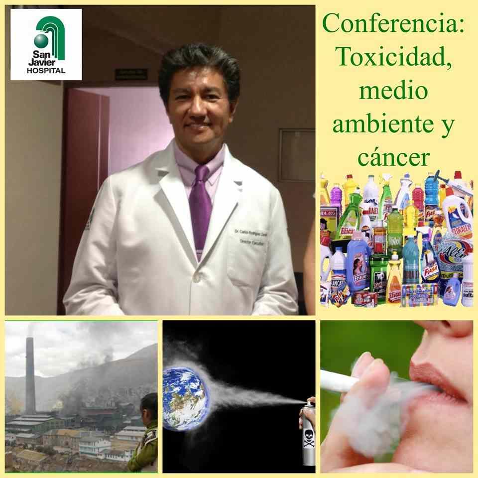 conferencia toxicidad, medio ambiente y cancer