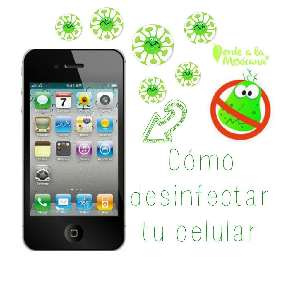 como desinfectar tu celular
