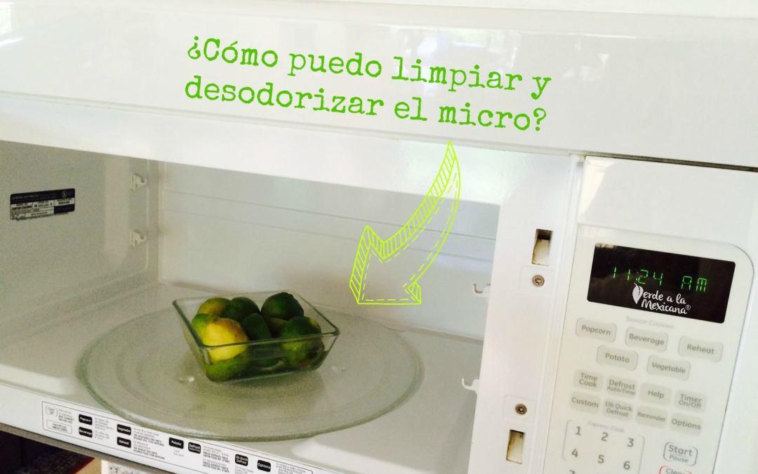Cómo limpiar el microondas sin químicos tóxicos
