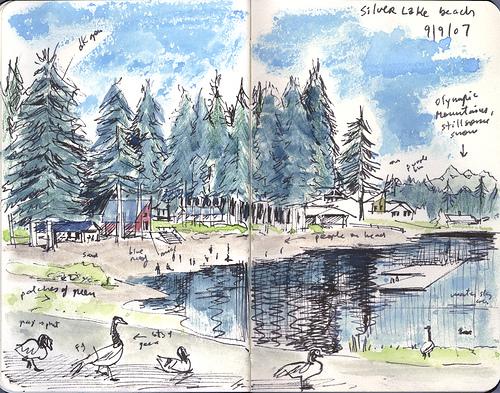 bocetos paisaje