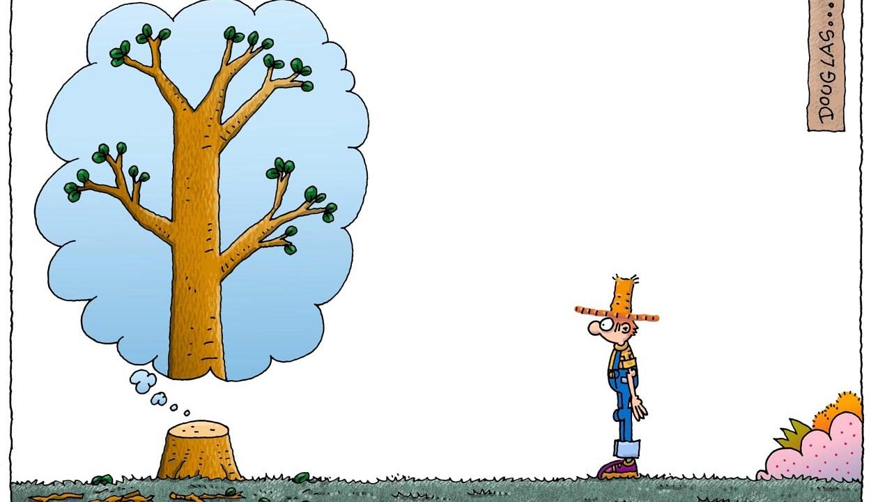 Jardinería y Humor- Arbol imaginario