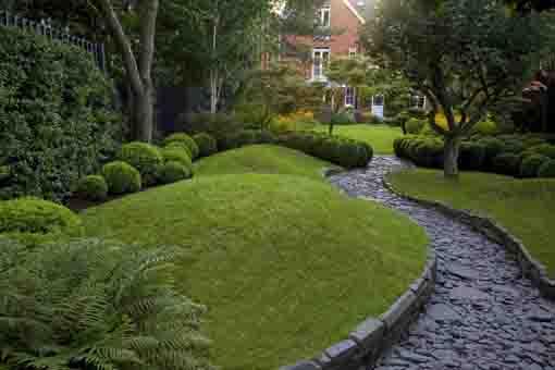 Jardín con bojs